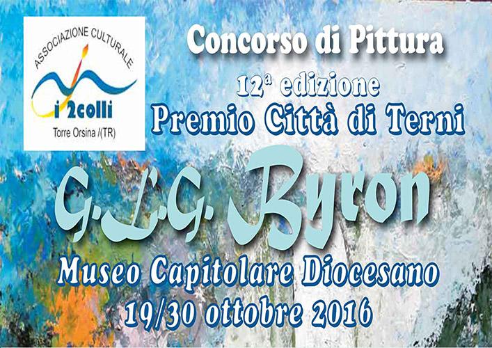 concorso di pittura premio glg byron terni 2016 bando iscrizione